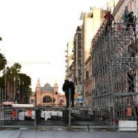 Bari, al via la costruzione del maxi-palco per il Papa: corso Vittorio Emanuele spezzato in due