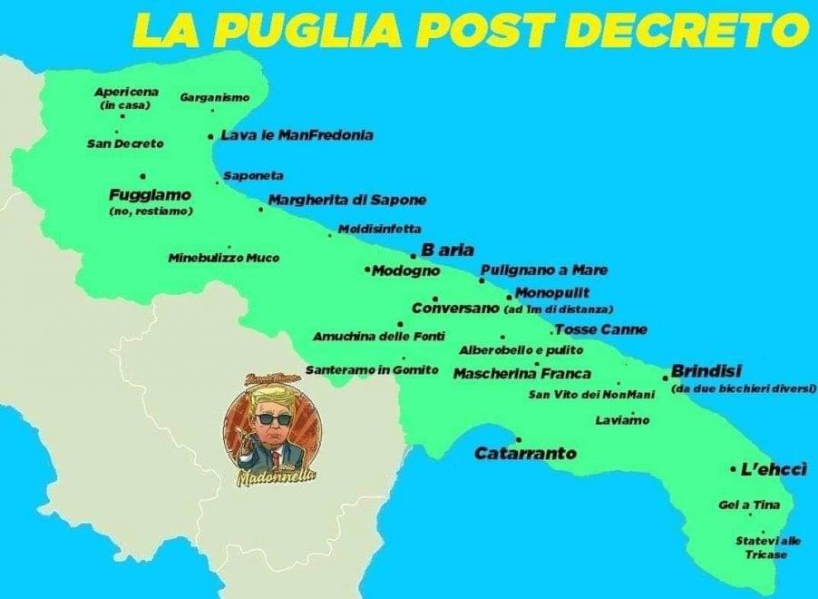 Cartina Puglia Immagini.Da Mascherina Franca Ad Amuchina Delle Fonti La Mappa Della Puglia Ai Tempi Del Coronavirus La Repubblica