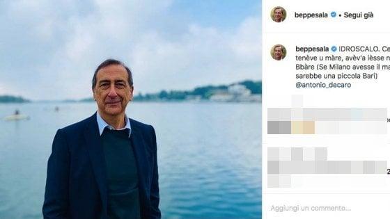 """Da Beppe Sala omaggio alla Puglia: """"Se Milano avesse il mare sarebbe una piccola Bari"""""""