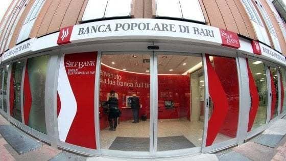 Popolare di Bari, via libera Fitd a salvataggio con 1,17 miliardi di euro. Ai soci azioni per 30 milioni