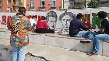 A Barletta restaurato   il murale antifascita