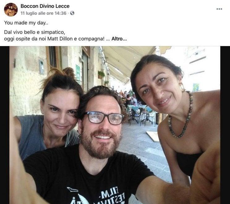 Matt Dillon in vacanza in Puglia stregato dal barocco leccese
