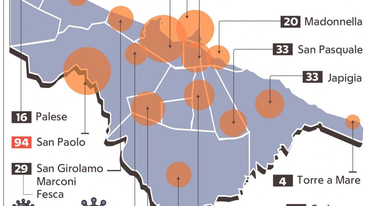 Cartina Distributori Metano Puglia.Coronavirus A Bari 582 Casi I Quartieri Piu Colpiti San Paolo E Liberta In Media 30 Contagi Al Giorno La Repubblica