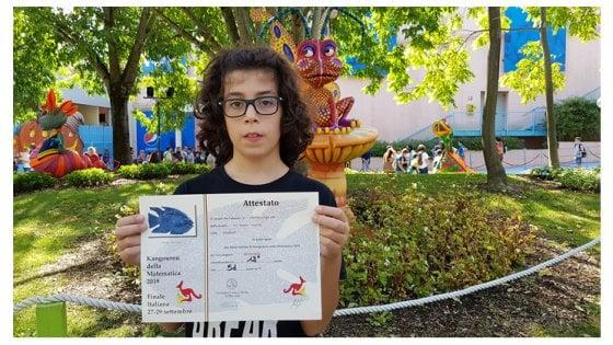 """Lorenzo a 13 anni è il campione italiano di matematica: """"Ora sogno di studiare in America"""""""