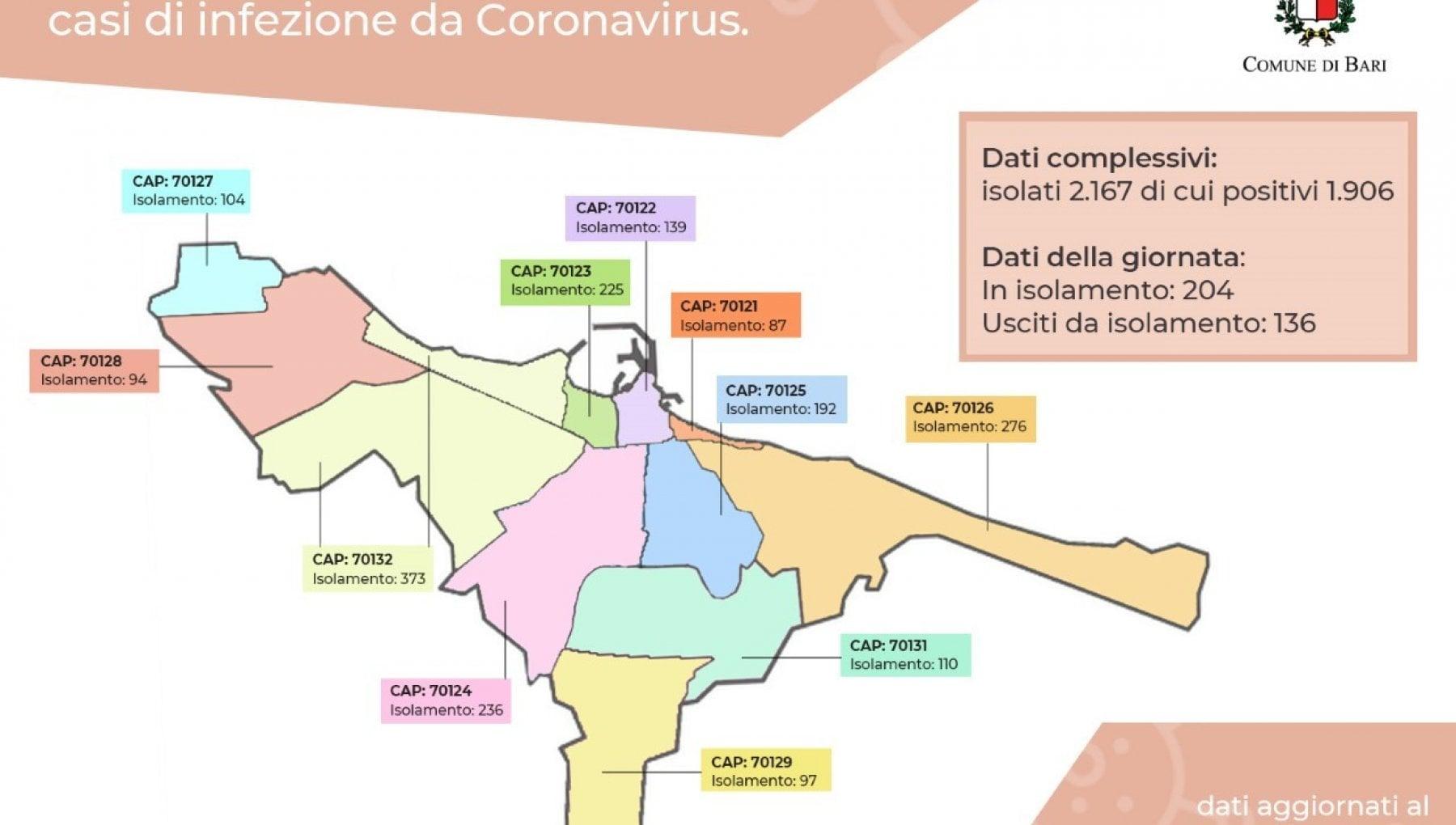 Cartina Distributori Metano Puglia.Coronavirus Ogni Giorno Dal Comune Di Bari La Mappa Del Contagio Sul Sito Ora In Isolamento Oltre 2mila Baresi La Repubblica