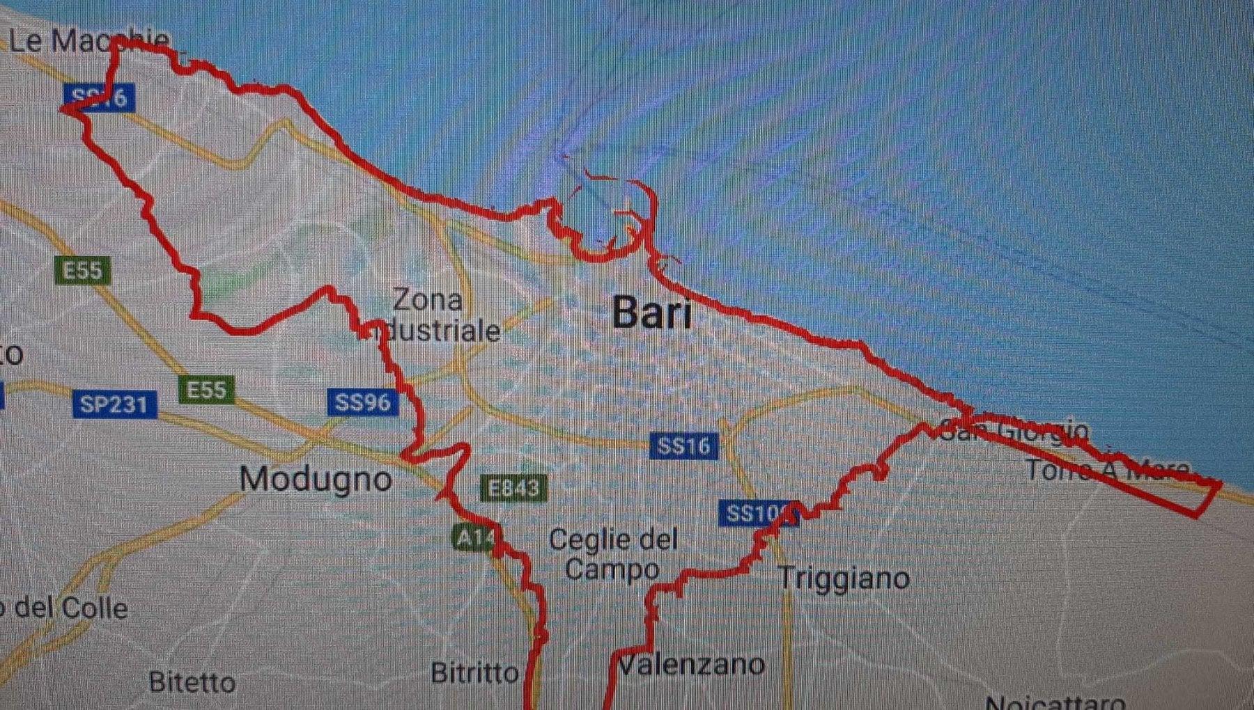 Cartina Puglia Google Maps.Ingegnere Realizza La Mappa Online Con I Confini Amministrativi Di Bari Serve Per Non Incorrere In Sanzioni Da Zona Arancione La Repubblica