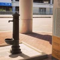 """All'aeroporto di Bari le fontanine 'cape de firr': """"Un omaggio alla tradizione e all'acqua..."""