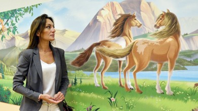 I muri della Pediatria al Sant'Orsola  dipinti dalla disegnatrice Disney -  foto