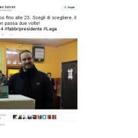 Salvini, comizi su Twitter nel giorno del voto
