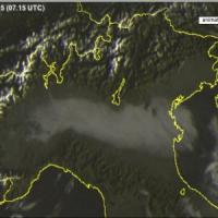 Sorpresa, la nebbia si dimezza nella pianura padana