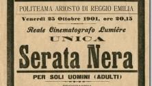 Il primo film porno in Italia? Proiettato a Reggio Emilia nel 1901