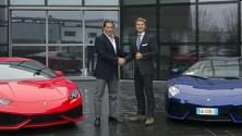 Tacopina visita  la Lamborghini