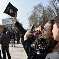 Bologna, le foto dell'eclissi