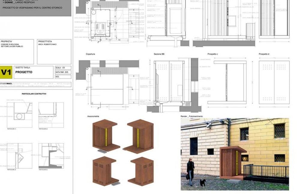 Piazza Verdi, ecco il progetto dei bagni pubblici - 1 di 1 - Bologna ...
