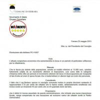 """Ferrara, i 5 Stelle: """"Facciamo pagare le tasse solo agli iscritti del Pd"""""""