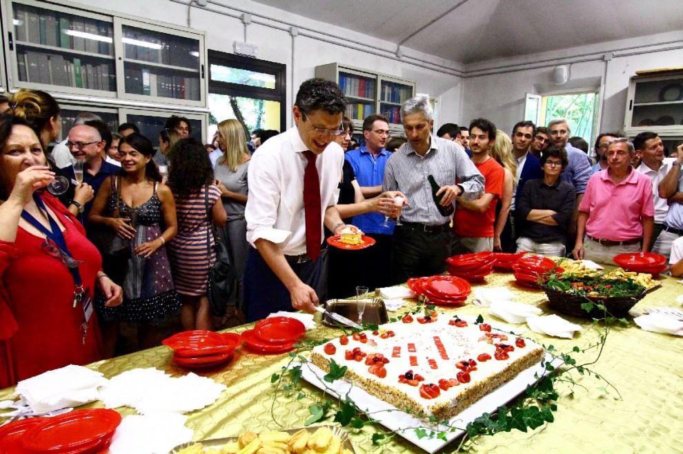 La festa al neo rettore Ubertini nel suo dipartimento di Ingegneria
