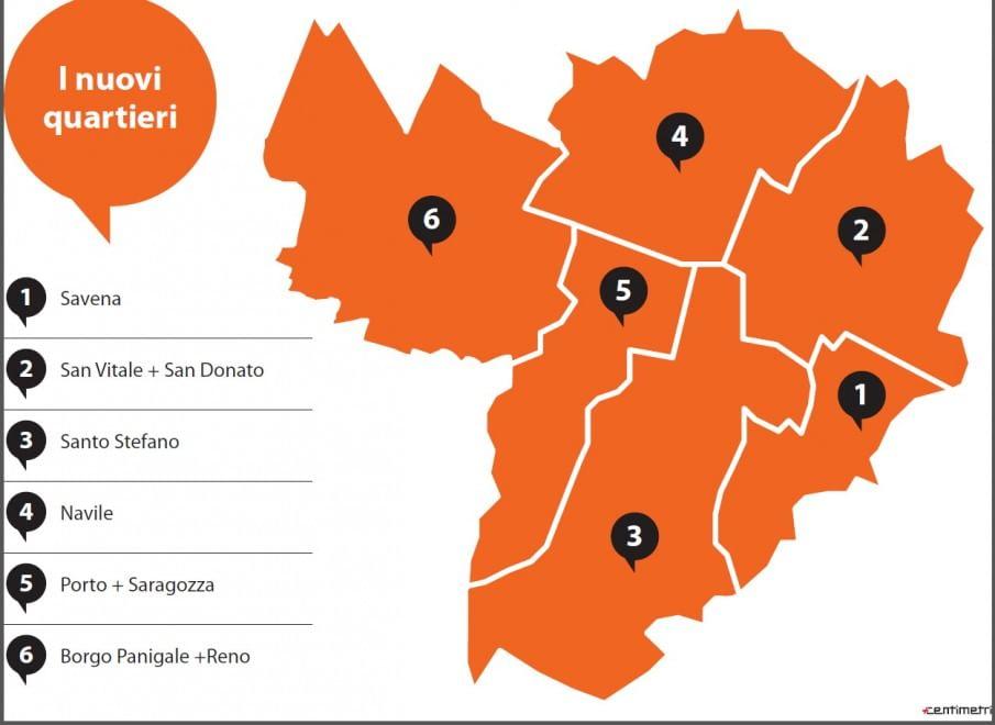Bologna Cartina Quartieri.Come Cambia Bologna Da Nove A Sei Quartieri La Repubblica