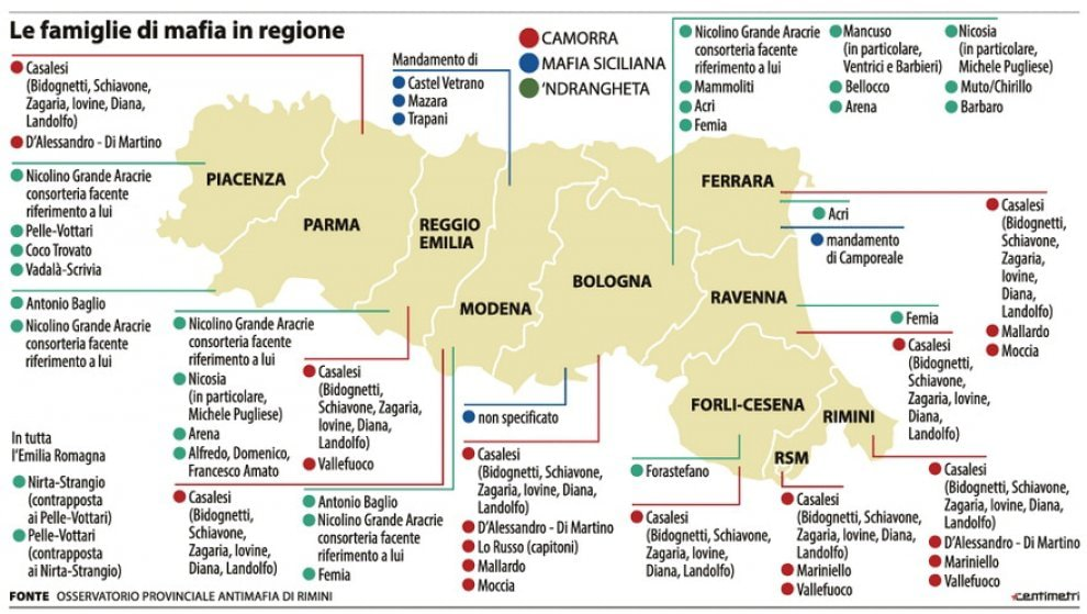 Risultati immagini per ndrangheta emilia romagna