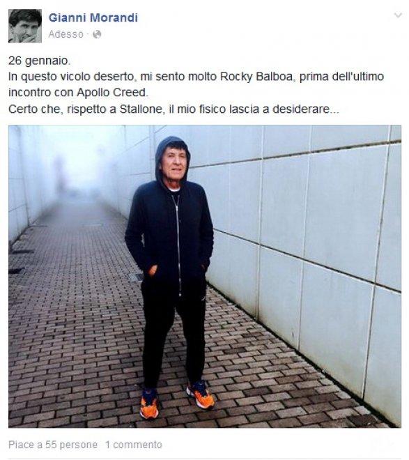 """Gianni Morandi: """"Io come Rocky Balboa, ma non ho il fisico"""""""