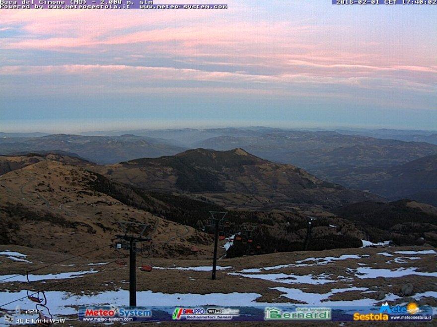 C'era una volta l'inverno: le webcam e la neve che manca sull'Appennino emiliano