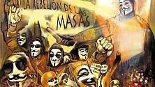 Ambiguo e ribelle  il viso di Anonymous in mostra a teatro