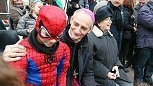 Il carnevale dei bambini col vescovo Zuppi