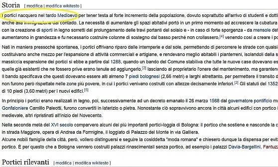 """I portici di Bologna? La storica bacchetta Wikipedia: """"Non nacquero nel tardo medioevo"""""""