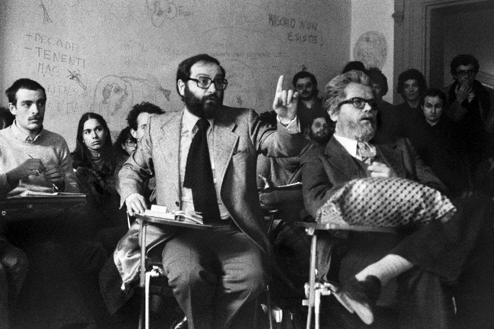 Umberto Eco, il 1977 e il Dams: le fotografie di Enrico Scuro