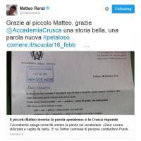 Ferrara, il piccolo Matteo si inventa una parola: Twitter e la Crusca si innamorano di #petaloso
