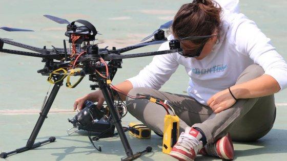 """Valentina, professione pilota di droni: """"Così cambiano le nostre vite"""""""