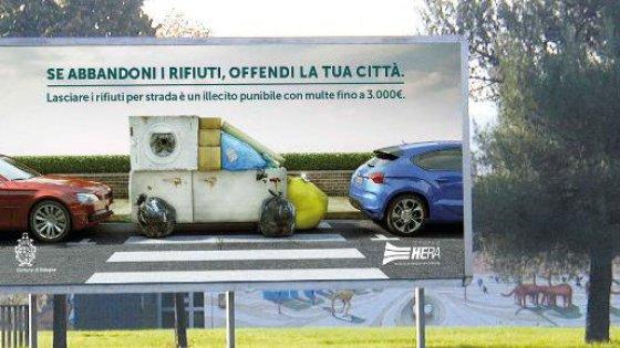 """Campagna Hera-Comune di Bologna: """"Se abbandoni i rifiuti offendi la città"""""""