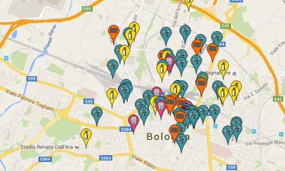 Bologna, tutta la street art in una mappa