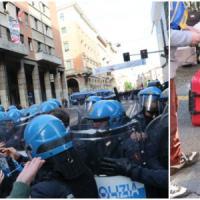 """Bologna,caos e scontri per uno sgombero. Merola: """"Occupanti usati per fini politici""""..."""