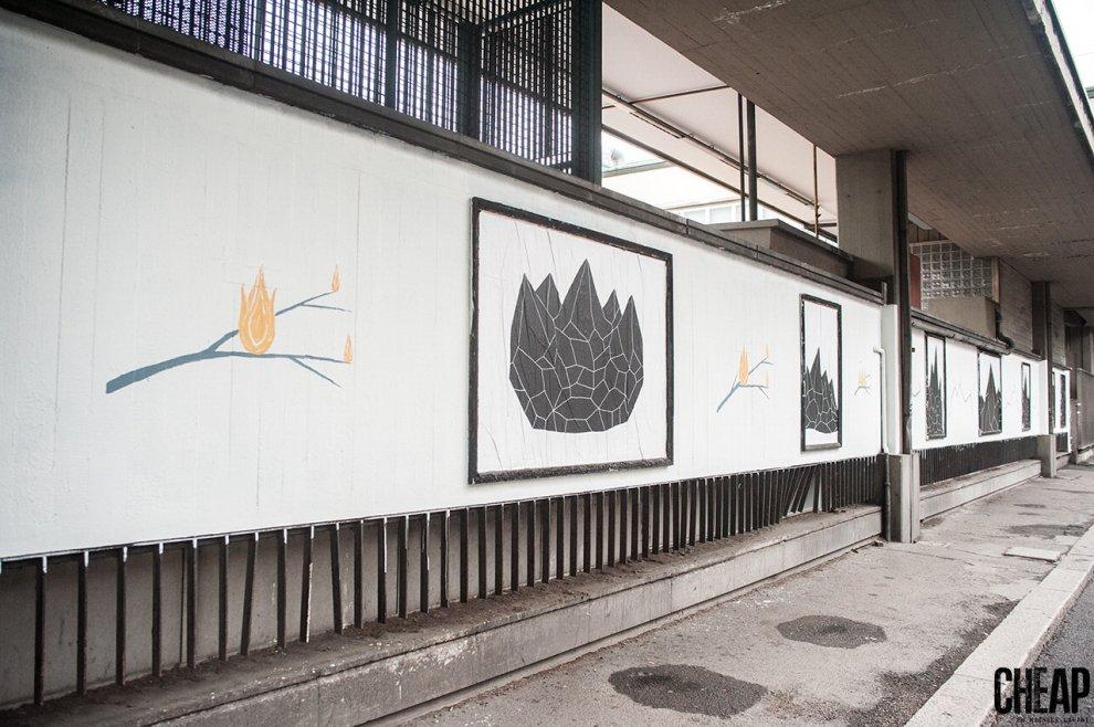 Bologna, la poster art di Cheap racconta l'inquinamento che viviamo