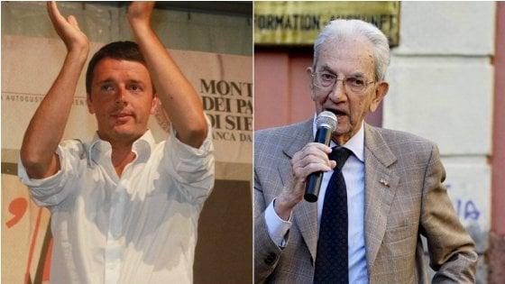 """Referendum, duello Renzi-Smuraglia: palco come un ring, """"arbitra"""" Gad Lerner"""