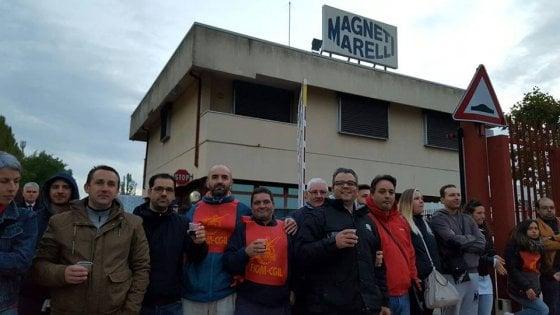 """Crevalcore, """"adesione al 100%"""" allo sciopero alla Magneti Marelli"""