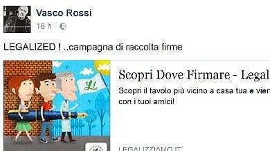 Vasco Rossi:  legalizzare la cannabis  Il rocker invita su Facebook a firmare