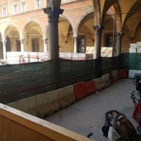 Bologna, nido Tovaglie nel cantiere: