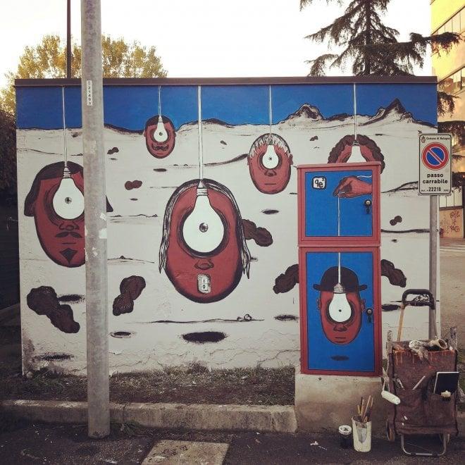 A Bologna le cabine elettriche diventano opere d'arte