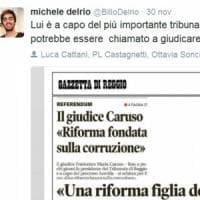 Il figlio di Delrio attacca il presidente del tribunale di Bologna