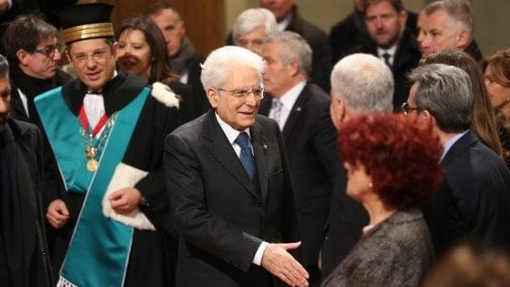 """Il presidente Mattarella all'università di Bologna: """"Questo ateneo continua a fornire un importante contributo all'Europa"""""""