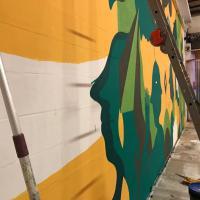 Bologna, all'interno di Dynamo il nuovo muro disegnato da Aris