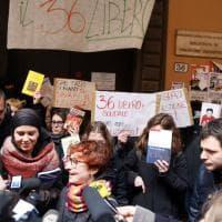 Ateneo di Bologna, il flash mob del Cua: