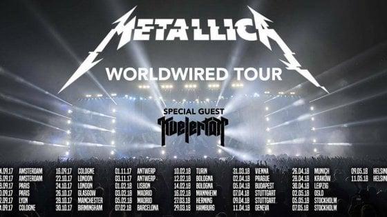 I Metallica arrivano in Italia