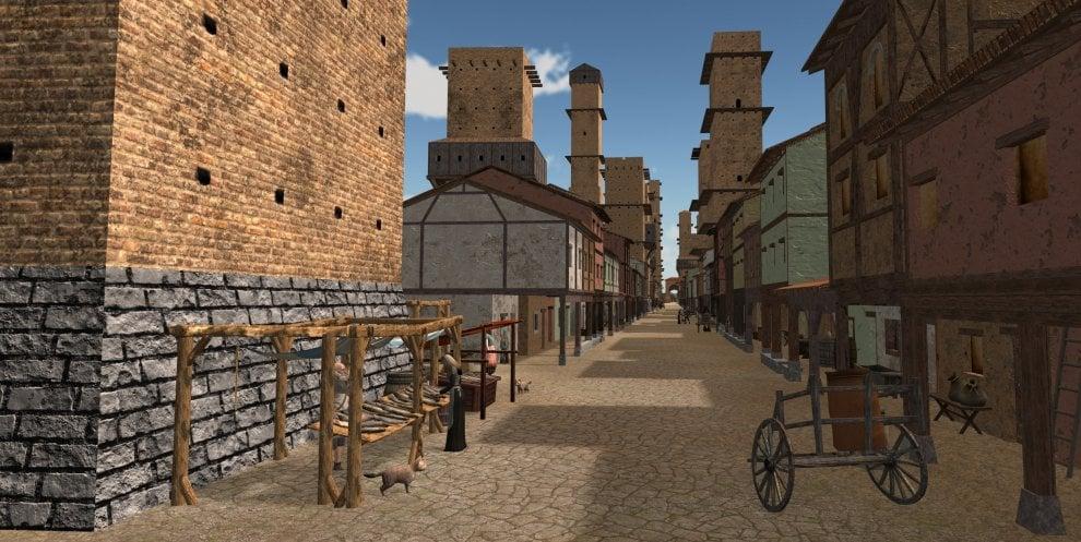 """Viaggio nella Bologna medievale grazie alla """"macchina del tempo"""" 3D"""