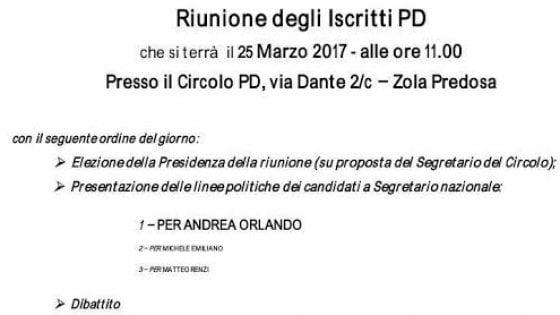 """""""Il nome di Orlando a caratteri cubitali"""": primarie Pd, guerra di volantini a Bologna"""