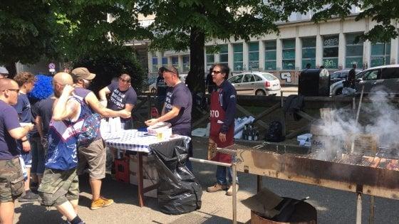 Bologna, il derby è cominciato: grigliate dei tifosi al Paladozza