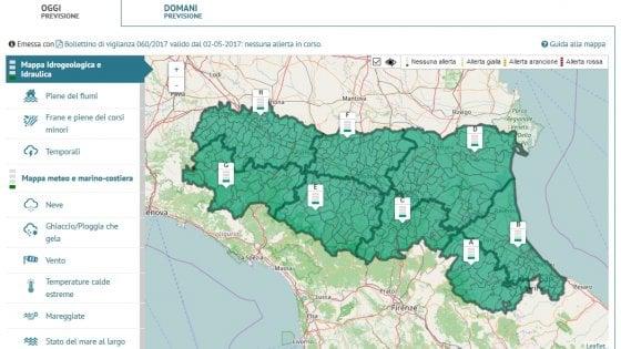Nasce il portale di allerta meteo per l 39 emilia romagna - Meteo it bagno di romagna ...