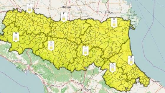 Maltempo:E.Romagna,allerta criticita' idrogeologica per temporali