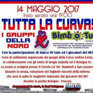 Tutta la curva, la festa degli ultras del Bologna per i bimbi malati